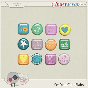 Yes You Can Flairs by Luv Ewe Designs