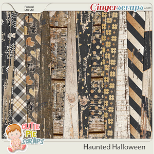 Haunted Halloween Wood Papers