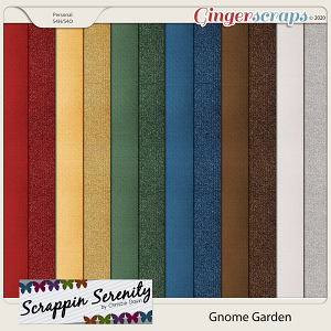 Gnome Garden Cardstock and Shimmer Papers