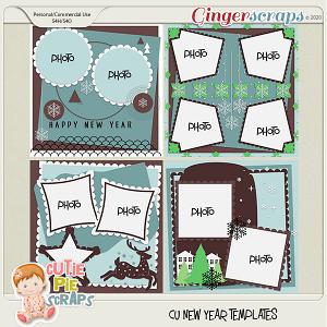 New Year -Templates -12x12 (CU Ok) by Cutie Pie Scraps
