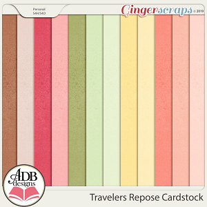 Travelers Repose Cardstock by ADB Designs