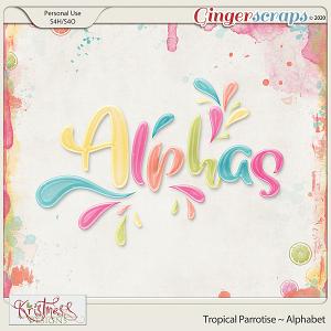 Tropical Parrotise Alphabet