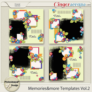 Memories&more Templates Vol.2