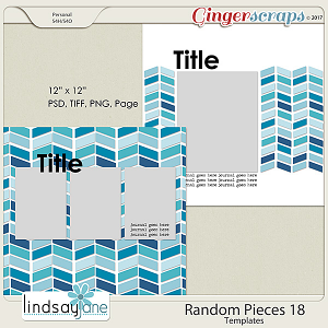 Random Pieces 18 Templates by Lindsay Jane
