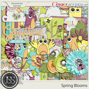 Spring Blooms Digital Scrapbook Kit