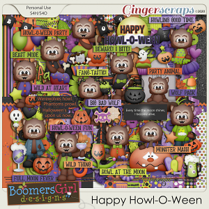 Happy Howl-O-Ween by BoomersGirl Designs