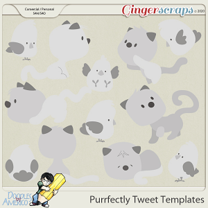 Doodles By Americo: Purrfectly Tweet Templates