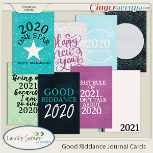 Good Riddance Journal Cards