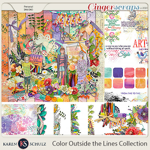 Color Outside the Lines Collection by Karen Schulz