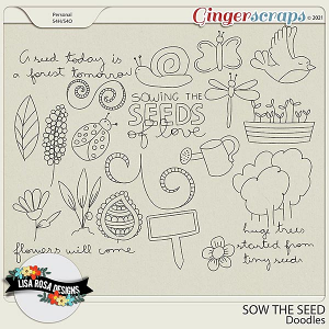 Sow the Seed - Doodles by Lisa Rosa Designs