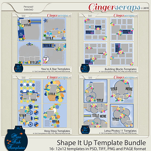 Shape It Up Template Bundle by Miss Fish