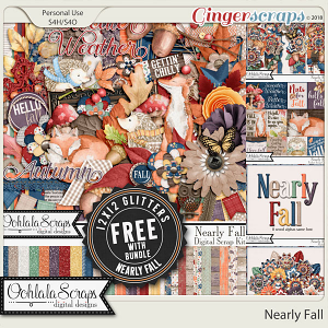 Nearly Fall Digital Scrapbook Bundle