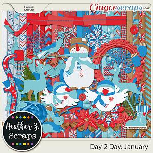 Day 2 Day: January KIT by Heather Z Scraps
