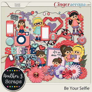 Be Your Selfie GIRL ELEMENTS by Heather Z Scraps