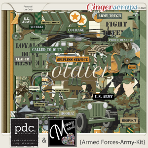 Armed Forces-Army-Kit by Memory Mosaic and Polka Dot Chicks
