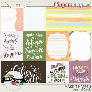 Make it Happen - Journal Cards by Lisa Rosa Designs