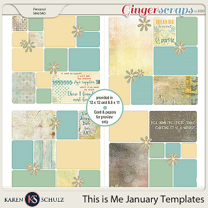 This is Me January Templates by Snickerdoodle Designs