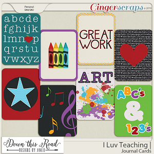 I Luv Teaching | Journal Cards
