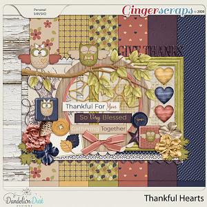 Thankful Hearts Digital Scrapbook Collection by Dandelion Dust Designs