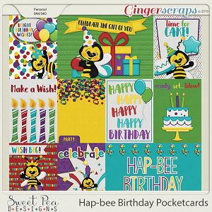 Hap-Bee Birthday Pocketcards