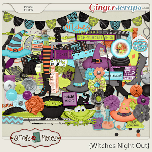 Witches Night Out Elements by Scraps N Pieces