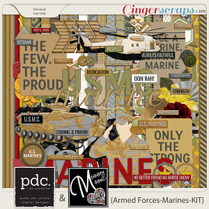 Armed Forces-Marines-Kit by Memory Mosaic and Polka Dot Chicks