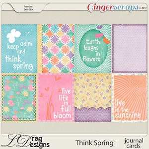 Think Spring: Journal Cards by LDragDesigns