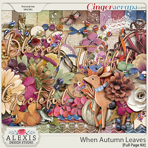 When Autumn Leaves - Full Page Kit