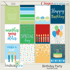 Birthday Party Journal Cards by Lindsay Jane