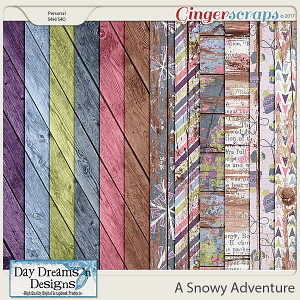 A Snowy Adventure {Wood Papers} by Day Dreams 'n Designs