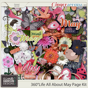 360°Life All About May Page Kit by Aimee Harrison