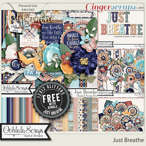 Just Breathe Digital Scrapbook Bundle