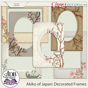 Akiko Decorated Frames {DOTW - Japan} by ADB Designs