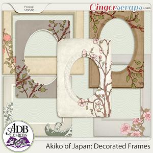 Akiko Decorated Frames {DOTW - Japan} by ADB Designs