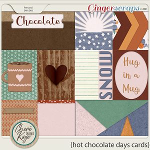 Hot Chocolate Days Cards by Chere Kaye Designs