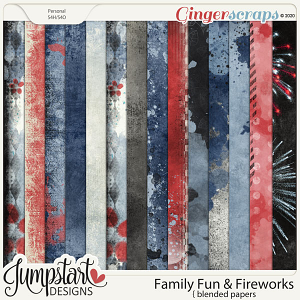 Family Fun & Fireworks {Blended Papers} by Jumpstart Designs