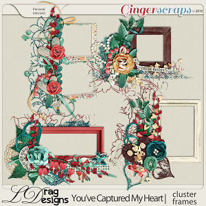 You've Captured My Heart: Cluster Frames by LDragDesigns