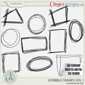 CU Scribble Frames Vol 1 by Ilonka's Designs