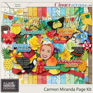 Carmen Miranda Page Kit by Aimee Harrison