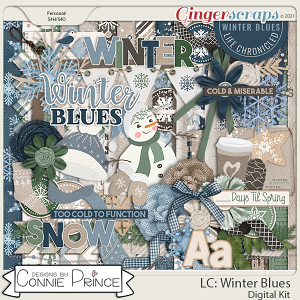Life Chronicled: Winter Blues - Kit by Connie Prince