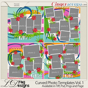 Curved Photo Templates Vol. 1 by LDrag Designs