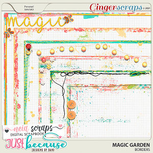 Magic Garden Borders by JB Studio and Neia Scraps