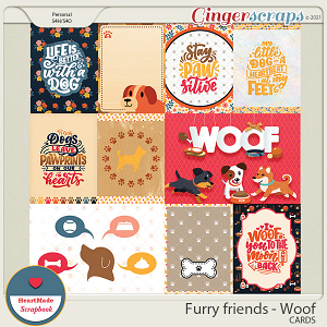 Furry friend - Woof - cards