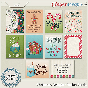 Christmas Delight - Pocket Cards by CathyK Designs