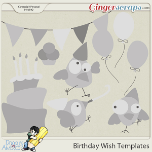 Doodles By Americo: Birthday Wish Templates