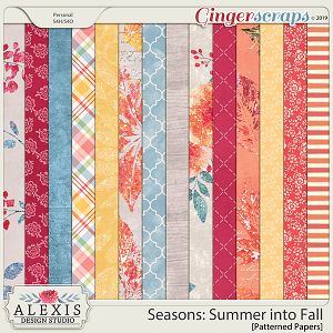 Seasons: Summer into Fall - Patterned Papers
