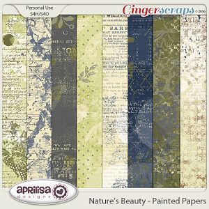 Nature's Beauty - Painted Papers by Aprilisa Designs