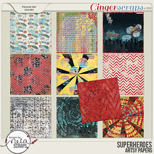 Superheroes - Artsy Papers by Neia Scraps