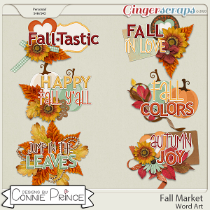 Fall Market - Word Art Pack by Connie Prince