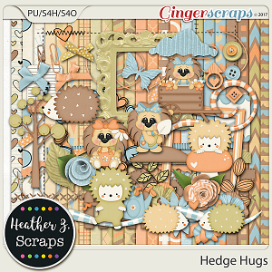 Hedge Hugs KIT by Heather Z Scraps